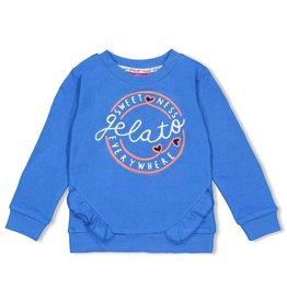 Jubel Sweater ruches - Sweet Gelato Blauw