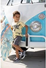 Sturdy T-shirt AOP - Smile & Wave Geel