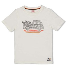 Sturdy T-shirt - Happy Camper Offwhite
