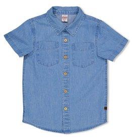 Sturdy Overhemd k/m - Summer Denims Grey denim