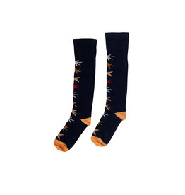 Topitm Gabriella socks AOP star blue/ brown