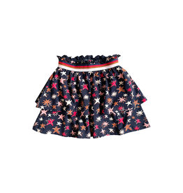 Topitm Livie skirt dark blue Star AOP