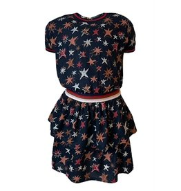 Topitm Allison Dress Dark blue AOP star