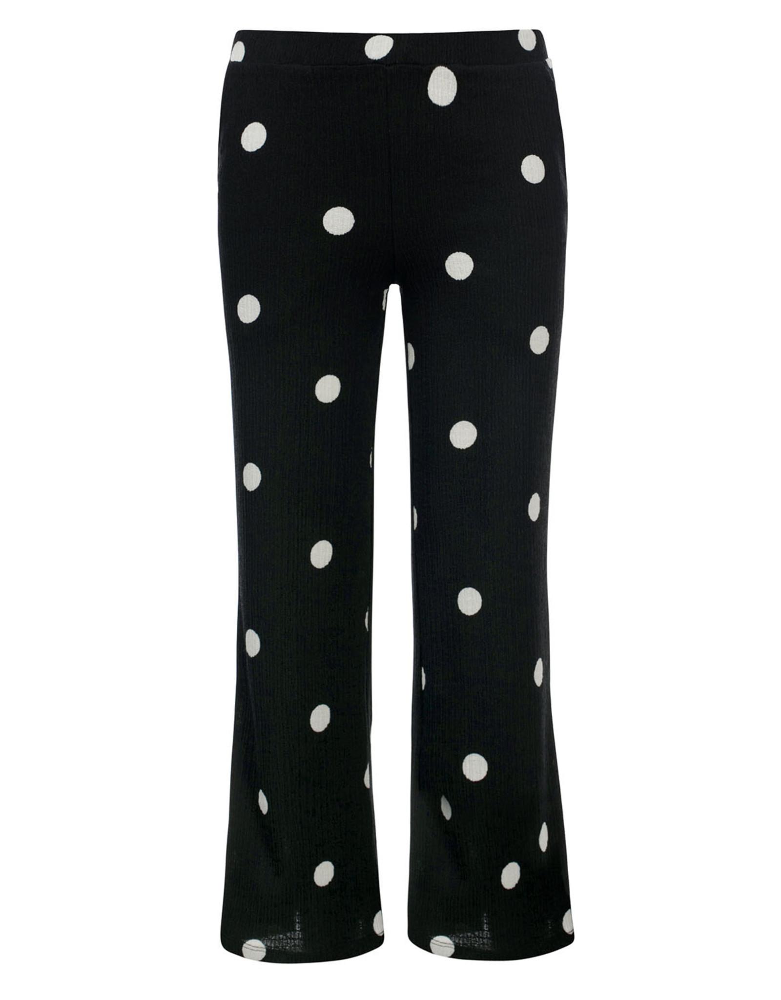 Looxs 10Sixteen crinkle wide leg pants Polkadot
