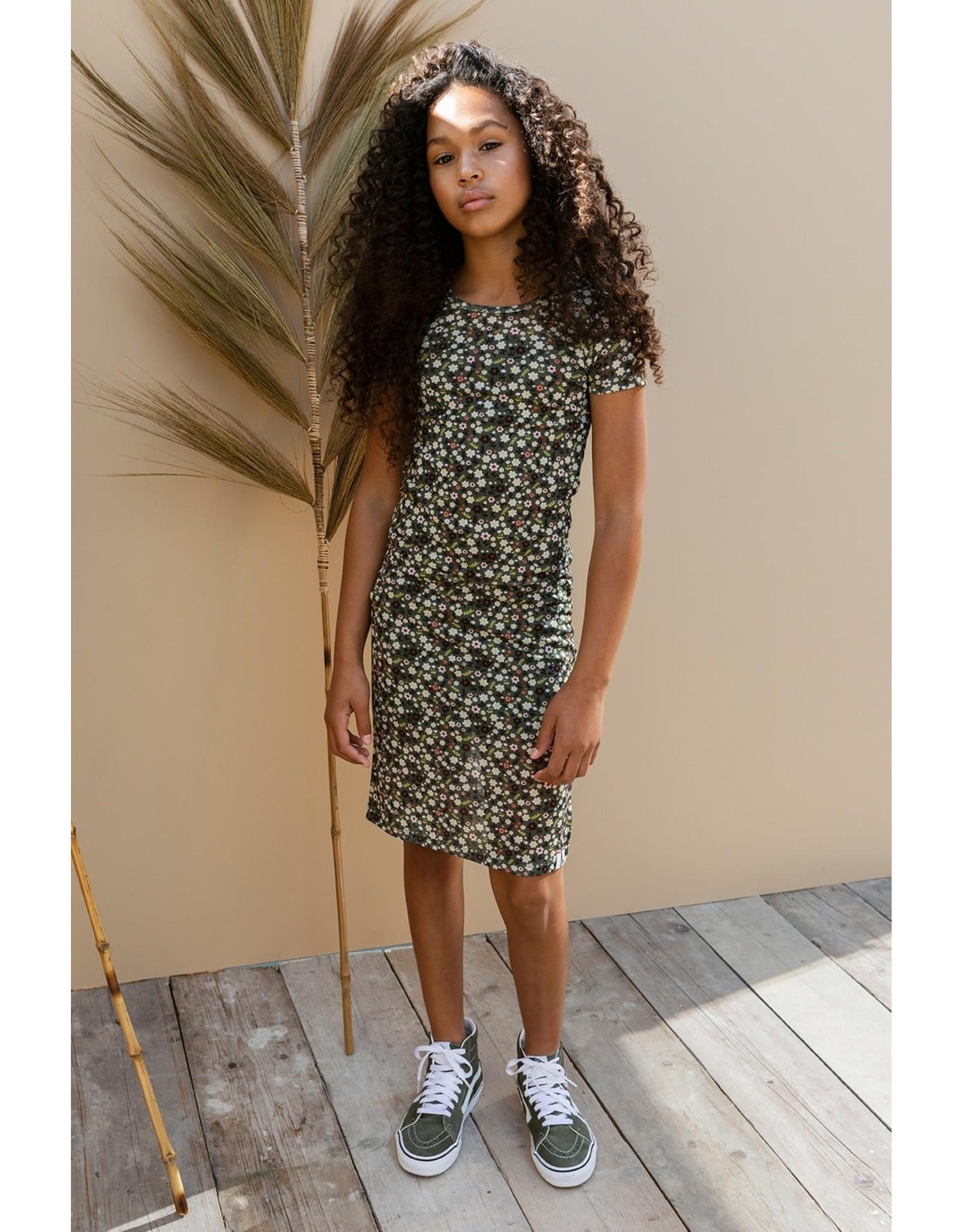 Looxs 10Sixteen Printed mesh dress FORREST BLOSSOM