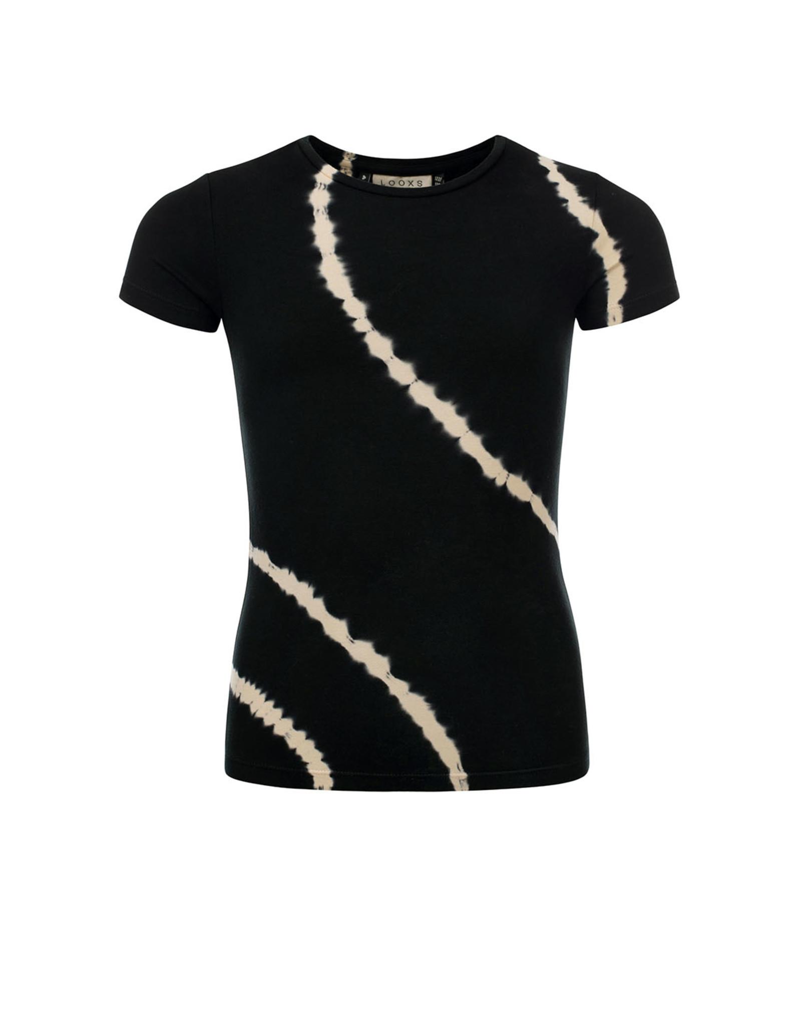Looxs 10Sixteen T-shirt bleach stripe raven