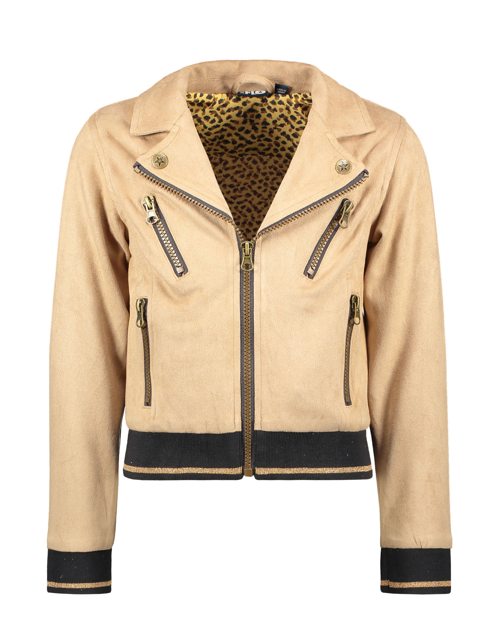 Like Flo Flo girls suede biker jacket 415 Mud