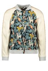 Like Flo Flo girls woven satin baseball jacket 945 Leaf