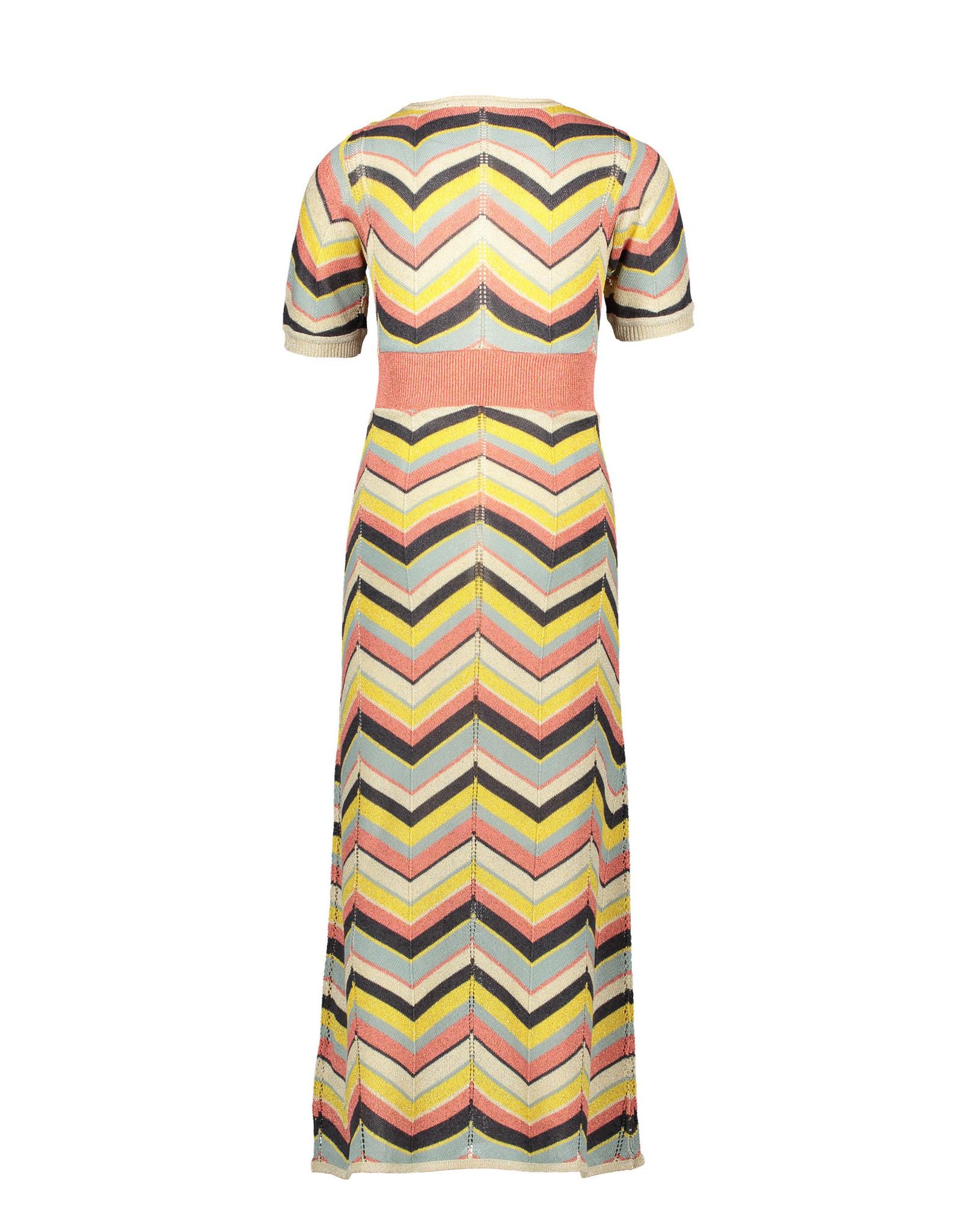 Like Flo Flo girls knitted zigzag maxi dress 901 Zigzag