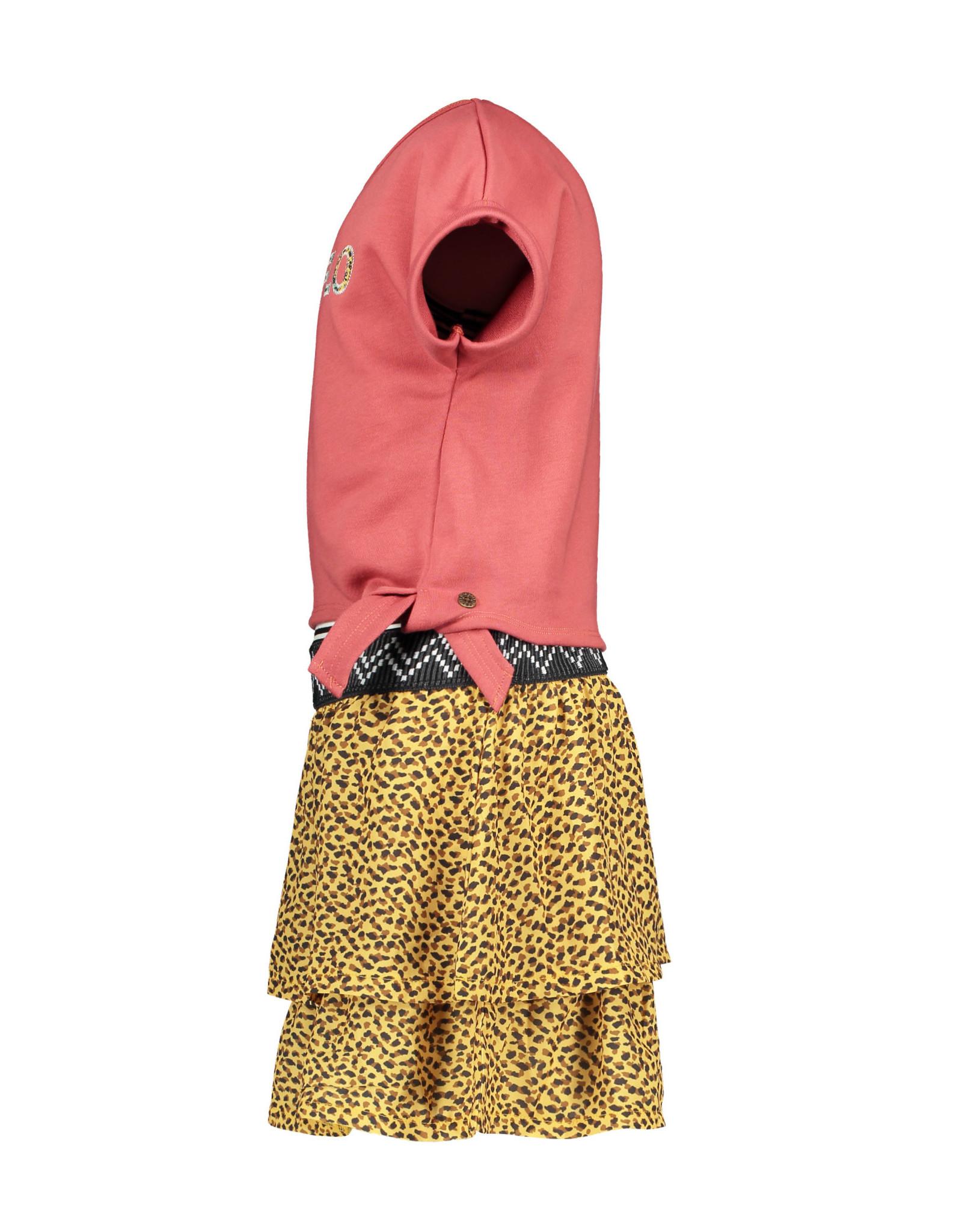 Like Flo Flo girls 2pc light sweat knotted sweater dress 205 Blush