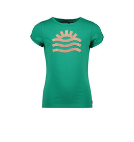 Like Flo Flo girls tee open shoulder roll divers 300 Green