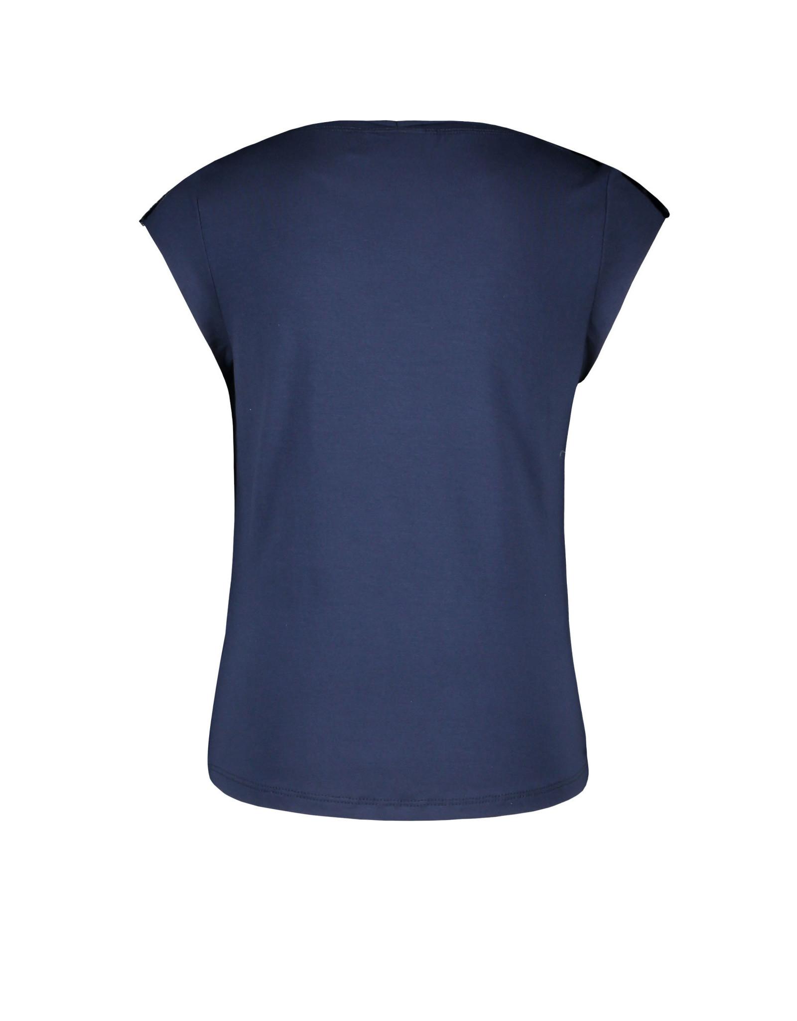 Like Flo Flo girls viscose jersey top with fancy studs 190 Navy