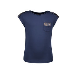 Like Flo Flo girls viscose jersey top with fancy studs 190 Navy
