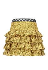Like Flo Flo girls AO woven smock ruffle skirt 911 Panther