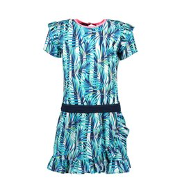 B-nosy Girls tropical palm ao dress with ruffle 331 Tropical palm ao