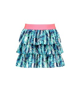 B-nosy Girls woven tropical palm ao layered skirt 331 Tropical palm ao