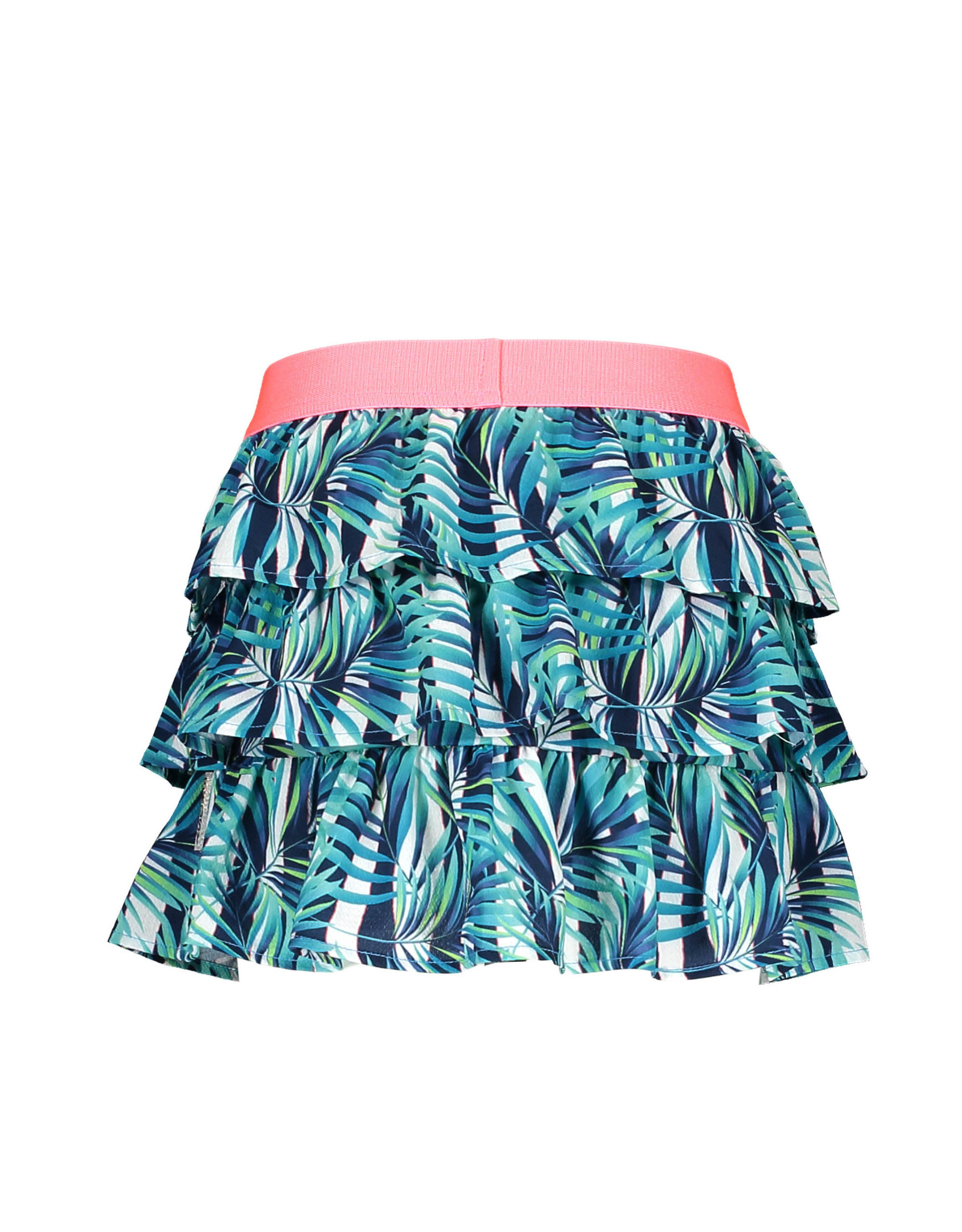 B-nosy Girls woven tropical palm ao layered skirt 331 Tropical palm ao