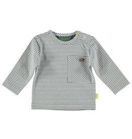 BESS Shirt l.sl.Striped pocket White