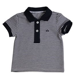 Gymp POLO - BICOLOR - RAYKE - BABY& MARINE/WIT/MARINE