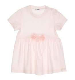 Gymp JURK - SHORTSLEEVE - TRIXIE - OFF-WHITE/VIEUX-ROSE
