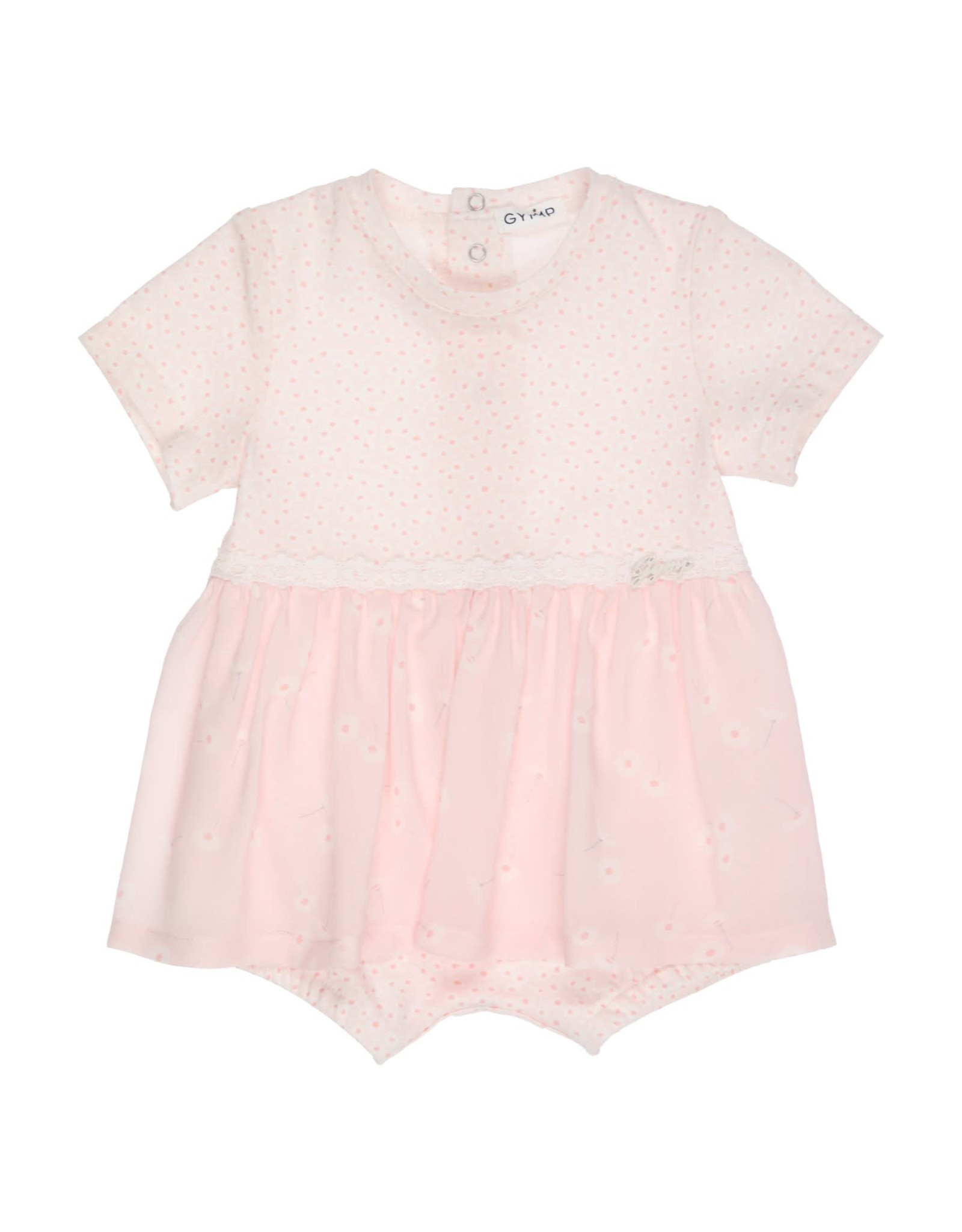 Gymp BABYPAKJE - ROMPER WITH SKIRT OFF-WHITE/VIEUX-ROSE
