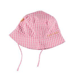 BESS Sun Hat Vichy Pink zomerhoed
