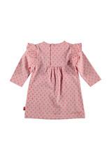 BESS Dress l. sl. AOP Flower Ruffles Pink