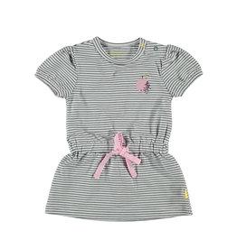 BESS Dress sh.sl. Striped White