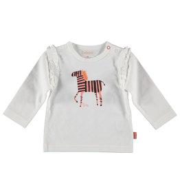BESS Shirt l. sl. Zebra Ruffles White
