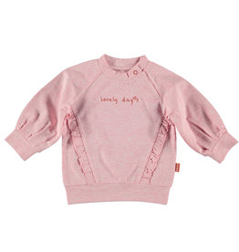 BESS Sweater Lovely Days Ruffles Pink