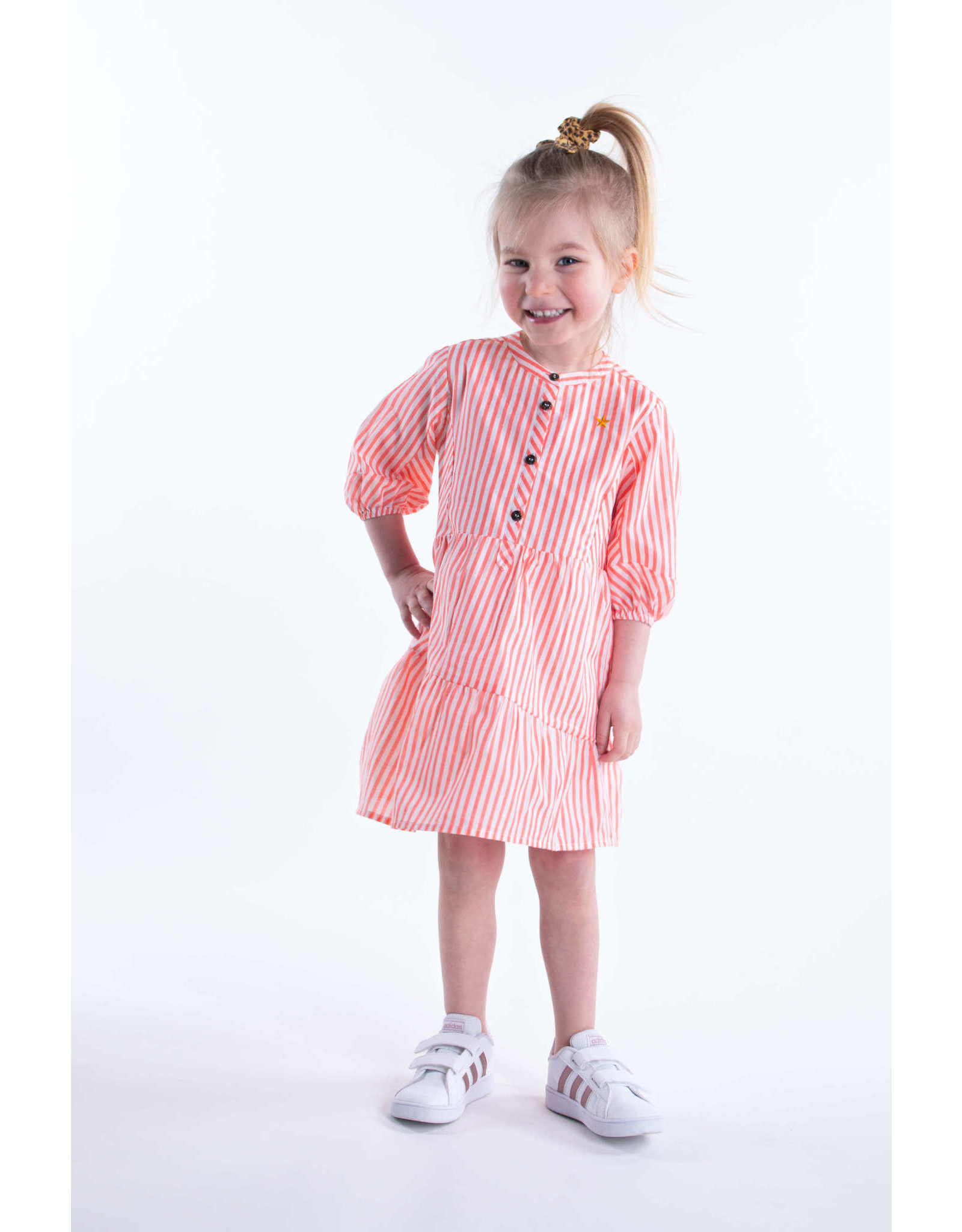 Like Flo Flo baby girls woven tuniek 261 Neon stripe