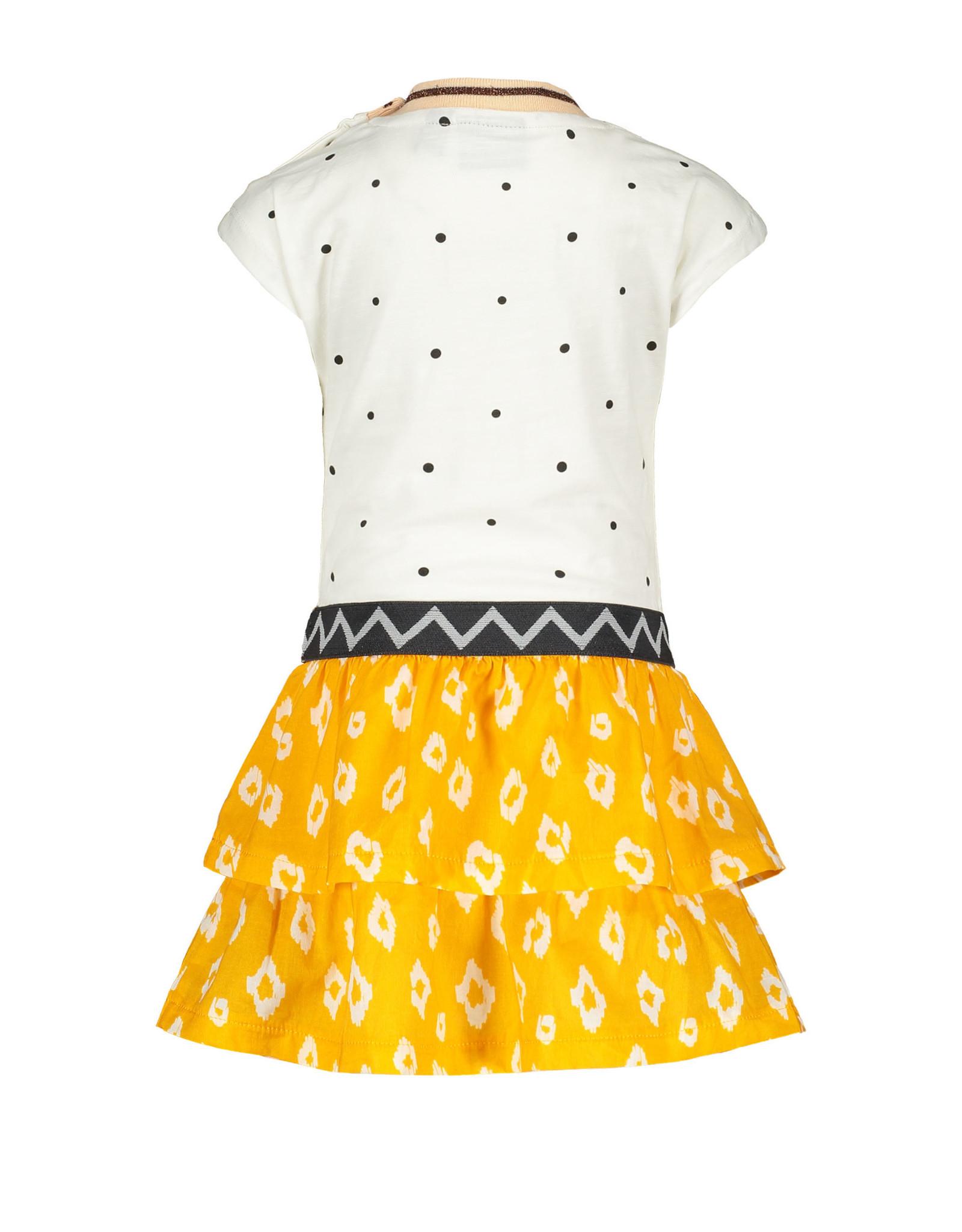 Like Flo Flo baby girls jersey dress ikat skirt 001 Off white