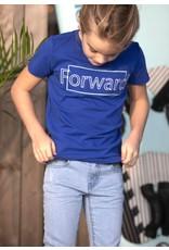 B-nosy Boys short sleeve t-shirt with chest artwork 183 Cobalt blue