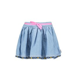 B-nosy Girls wide denim skirt with embroidered hem 125 Curious denim
