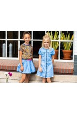 B-nosy Girls wide denim skirt with embroidered hem 125 Curious denim