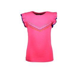 B-nosy Girls t-shirt with v-shaped embro on chest 212 Knock out pink