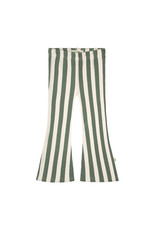Your Wishes Bold Stripes   Flared Legging Old Green Terra