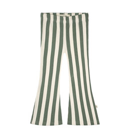 Your Wishes Bold Stripes | Flared Legging Old Green Terra