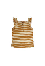 Your Wishes Gold Stripes | Ruffle Singlet Soft yellow