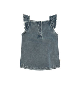 Your Wishes Knitted Denim | Ruffle Singlet