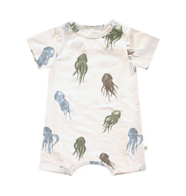 Your Wishes Jellyfish | SS Onesie Old Green multicolor