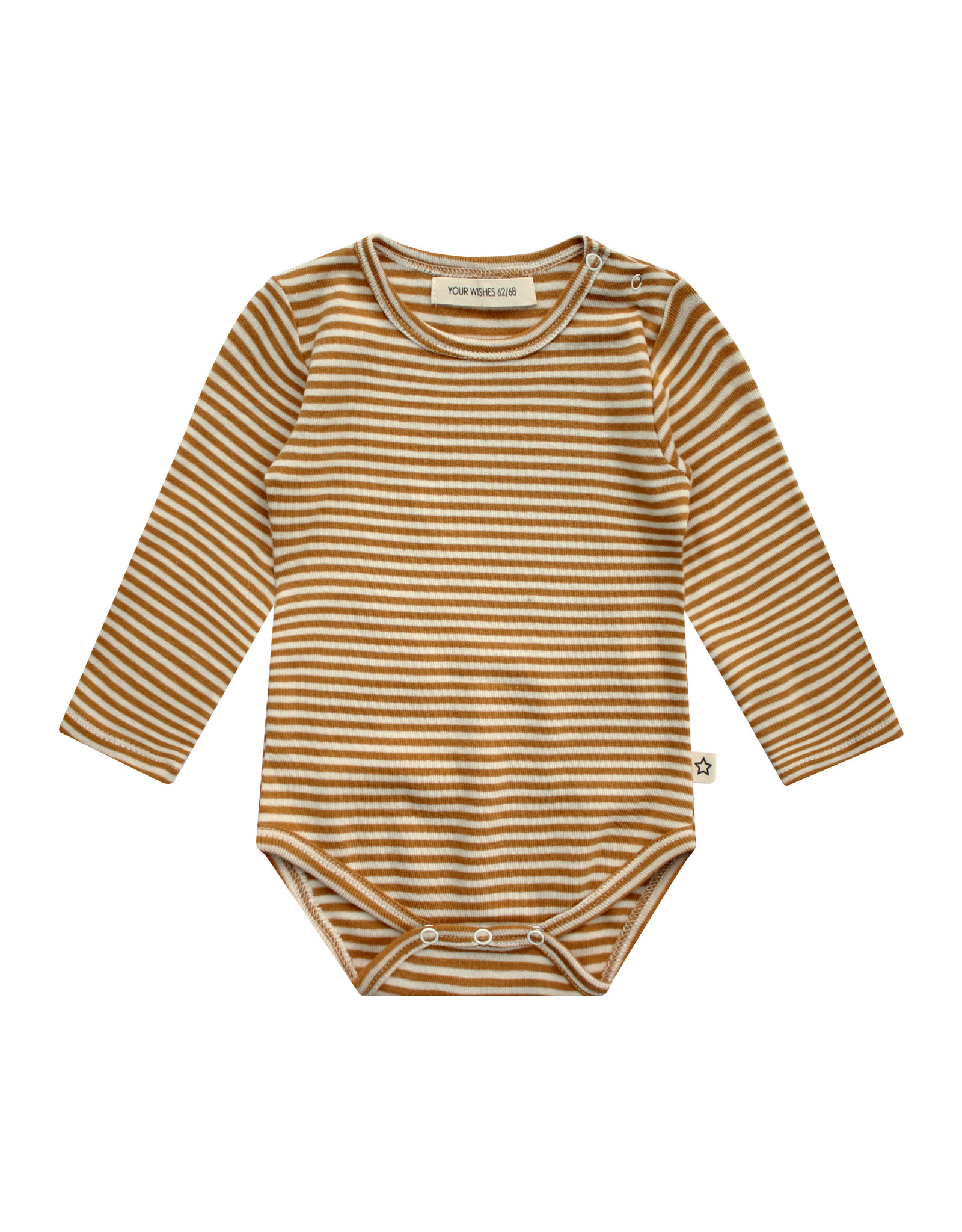 Your Wishes Gold Stripes | Longsleeve Romper Yellow