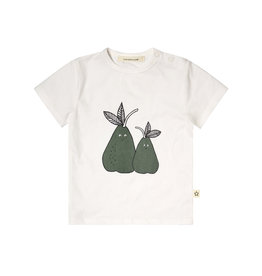 Your Wishes Cute Pear t-shirt off-white-green Denim Blue