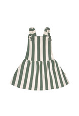 Your Wishes Bold Stripes | Dungaree Dress Green