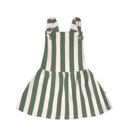 Your Wishes Bold Stripes | Dungaree Dress Green Terra
