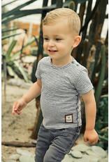 Koko Noko Boys T-shirt ss Dark grey + stripes