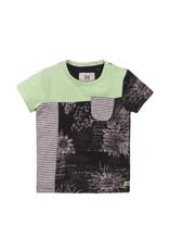 Koko Noko Boys T-shirt ss Faded neon green + dark grey + aop