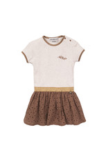 Koko Noko Girls Dress ss Camel + beige melange