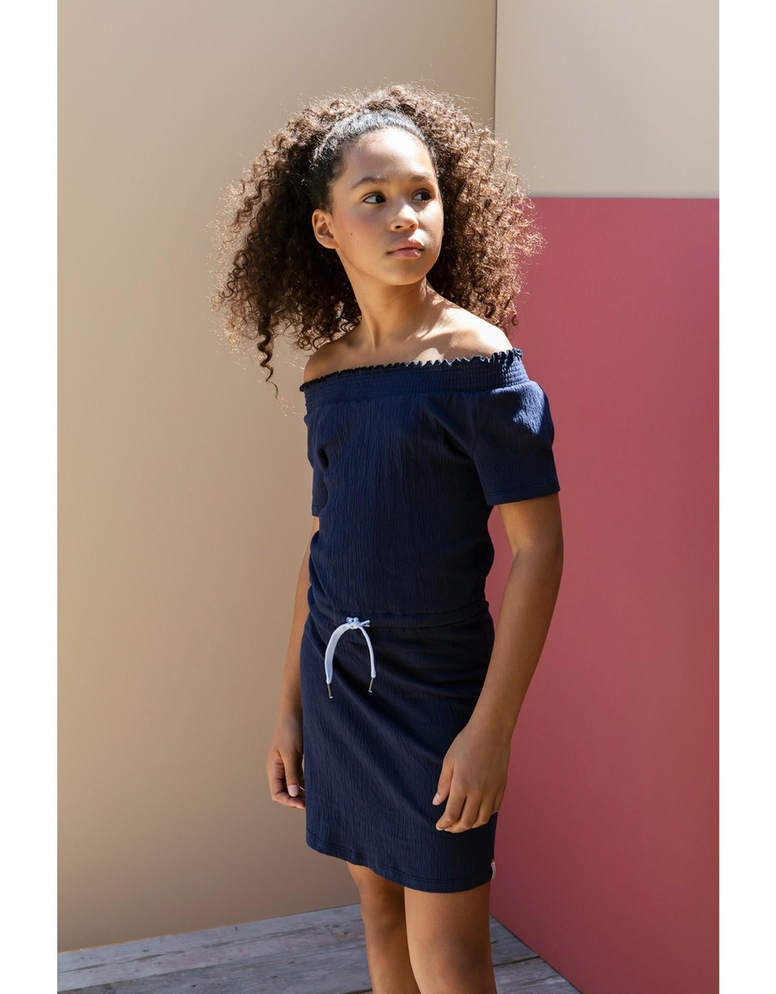 Looxs 10Sixteen off shoulder dress OXFORD BLUE