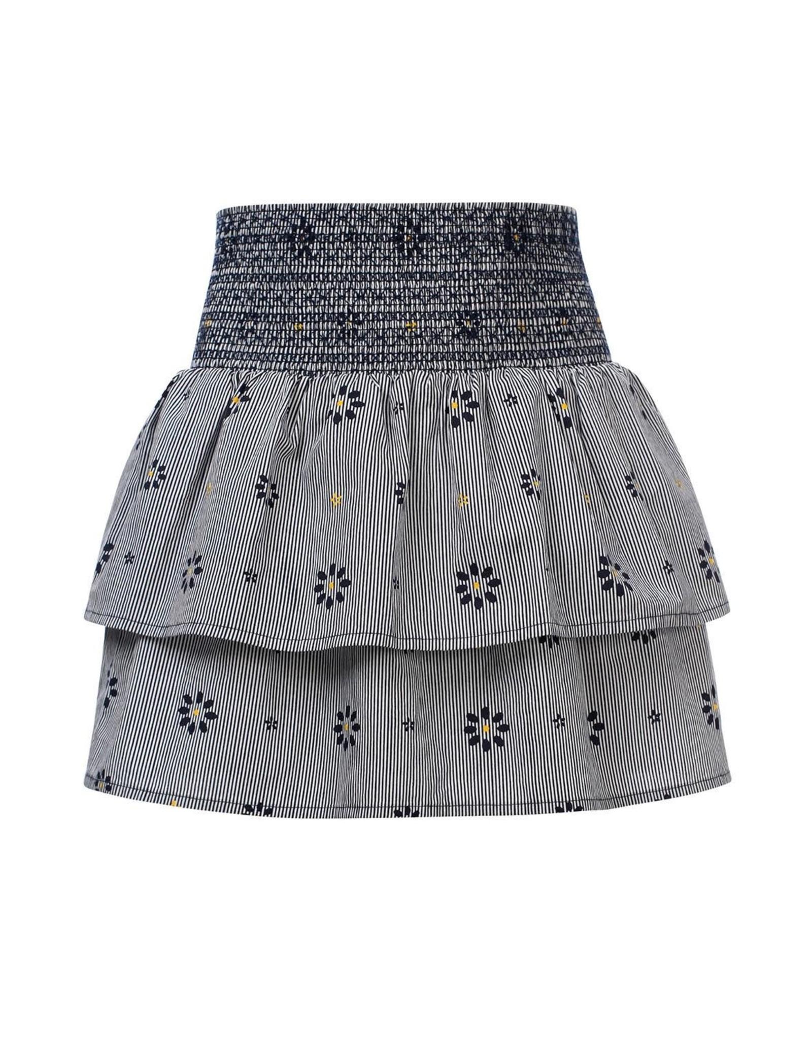 Looxs 10Sixteen Rib stripe skirt OXFORD BLUE